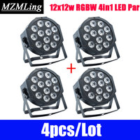 4pcs/Lot 12x12w RGBW 4in1 LED Par Light Professional DJ /Bar /Party /Show /Stage Light LED Stage Machine