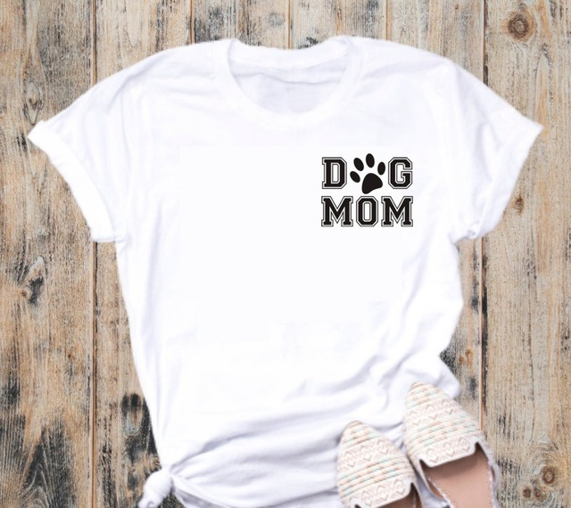 Casual Cotton Dog Patterned T-Shirt