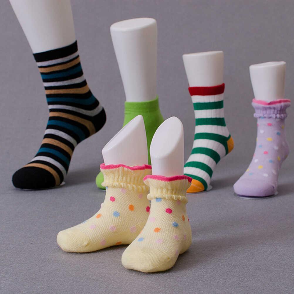 1 Pcs 2 Colors Children Kids Baby Feet Mannequin Foot Model Tools for Shoes Sock Display Hard Plastic Socks Tool Supply