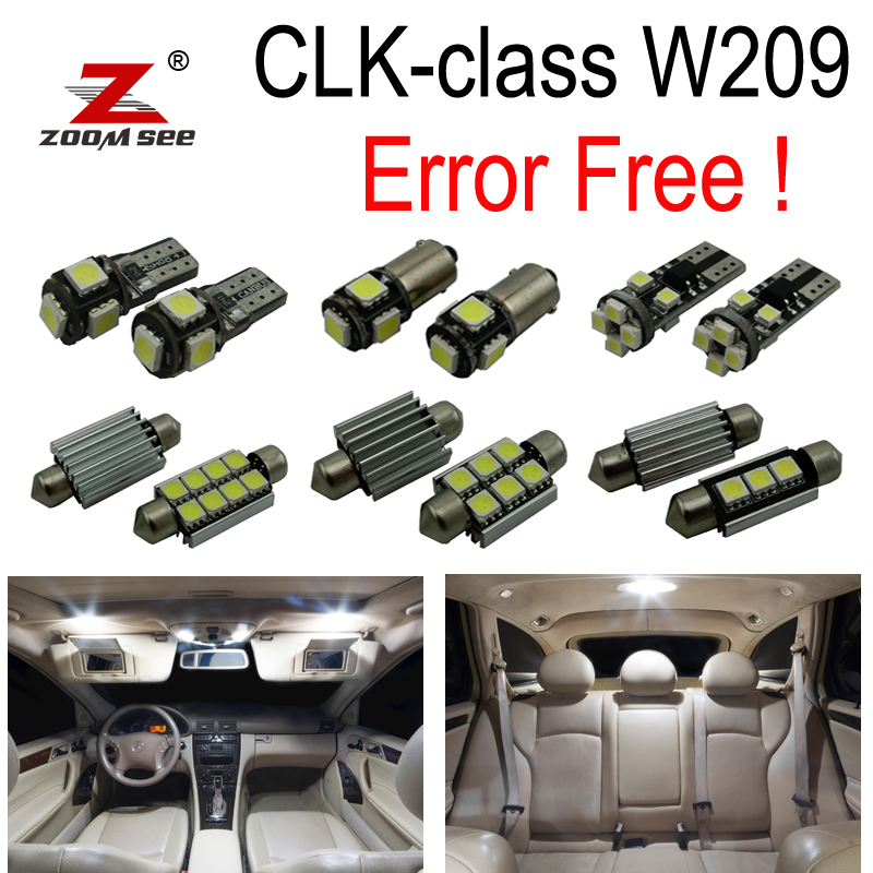 16 pc sans Erreur LED Intérieur Lumière Kit Pour Mercedes Pour Mercedes-Benz CLK classe W209 CLK320 CLK430 CLK350 CLK500 CLK550 (03-09)