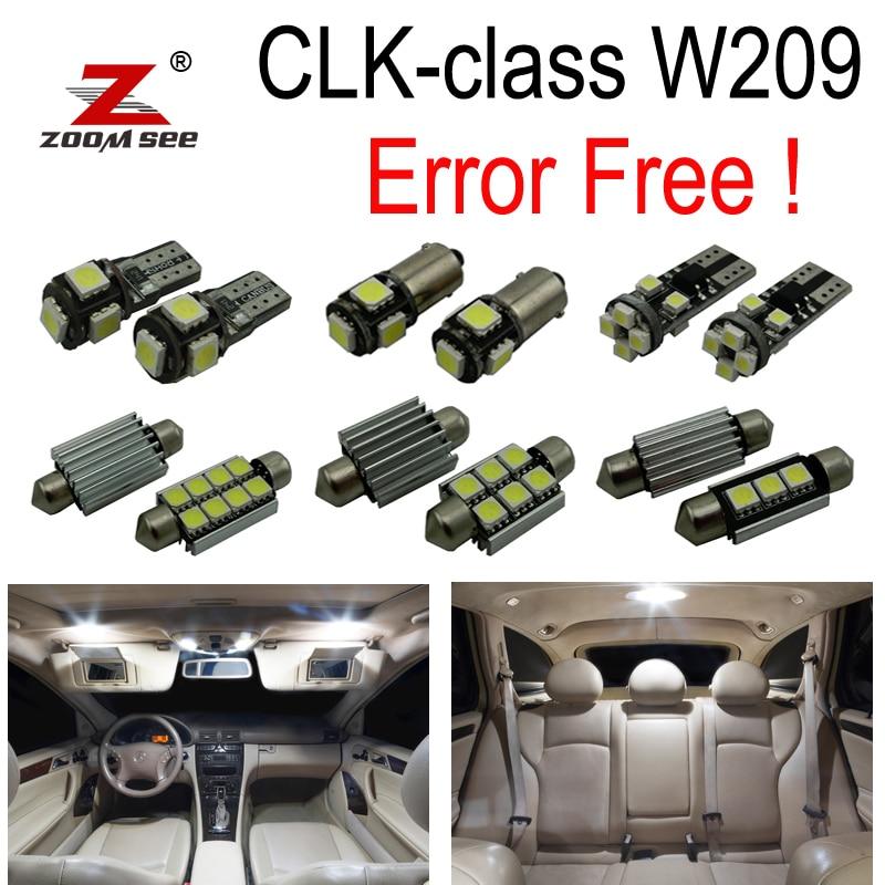16pc Error free LED Interior Light Kit For Mercedes For Mercedes-Benz CLK class W209 CLK320 CLK430 CLK350 CLK500 CLK550 (03-09) carprie super drop ship new 2 x canbus error free white t10 5 smd 5050 w5w 194 16 interior led bulbs mar713