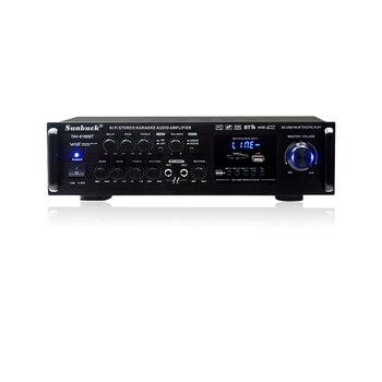 Amplificateur Audio Sound Power Amplifiers Professional Stereo Car AV Amplifier Built-in Bluetooth Amp USB FM Dual Mic 12v 220v