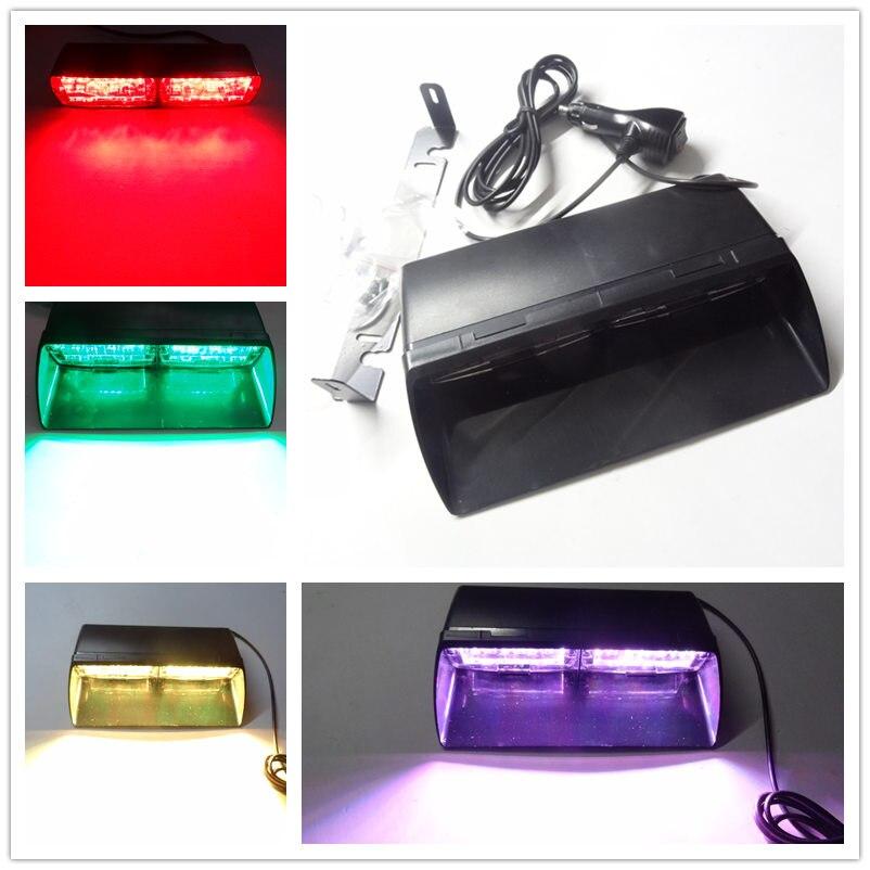 Автомобиль-стайлинг большой супер Яркость RGB 6 цветов светодиодный Автомобильный Стробоскоп мигает свет тире аварийного Янтарный Poloce сигнальная лампа противотуманных фар