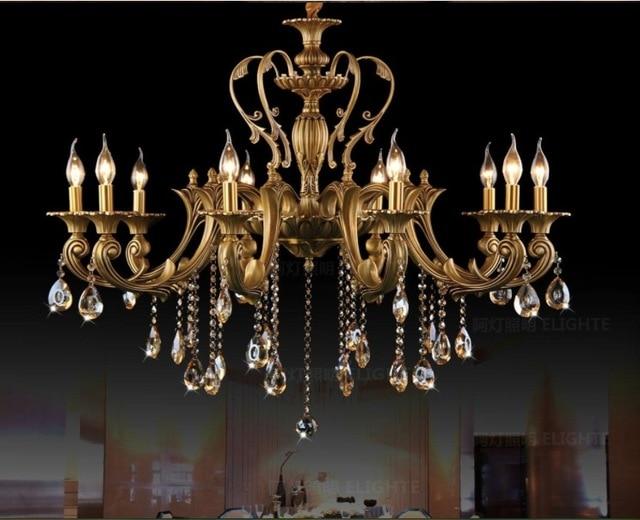 Vintage Crystal Chandelier Lighting Fixture For Dining Room Foyer Br Res De Cristal Luxury Pendant Lamp