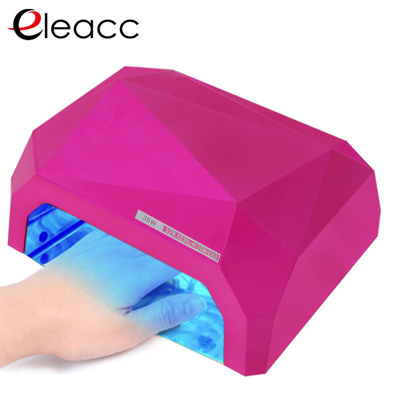 ФОТО Diamond UV Lamp LED Nail Lamp Nail Dryer Diamond Shaped 36W LED CCFL Curing Nail Tools Set UV Gel Nail Polish Art Kit Fasion