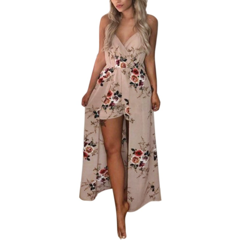 Women Summer Sexy Deep V Neck Split Floral Print Dress Women Dresses Vestido Costume Female Cloth Cute Sasha