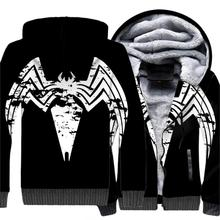 New Movie Spiderman Venom Villain Skull 3D Print HoodieStreetwear Zipper Sweatshirts Unisex Good Quality Tops 2019 Warm Jackets