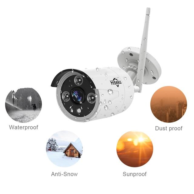 Hiseeu Wireless CCTV System 1080P Wireless NVR 4ch 1.3MP IP Camera waterproof outdoor P2P Home Security System Surveillance Kits