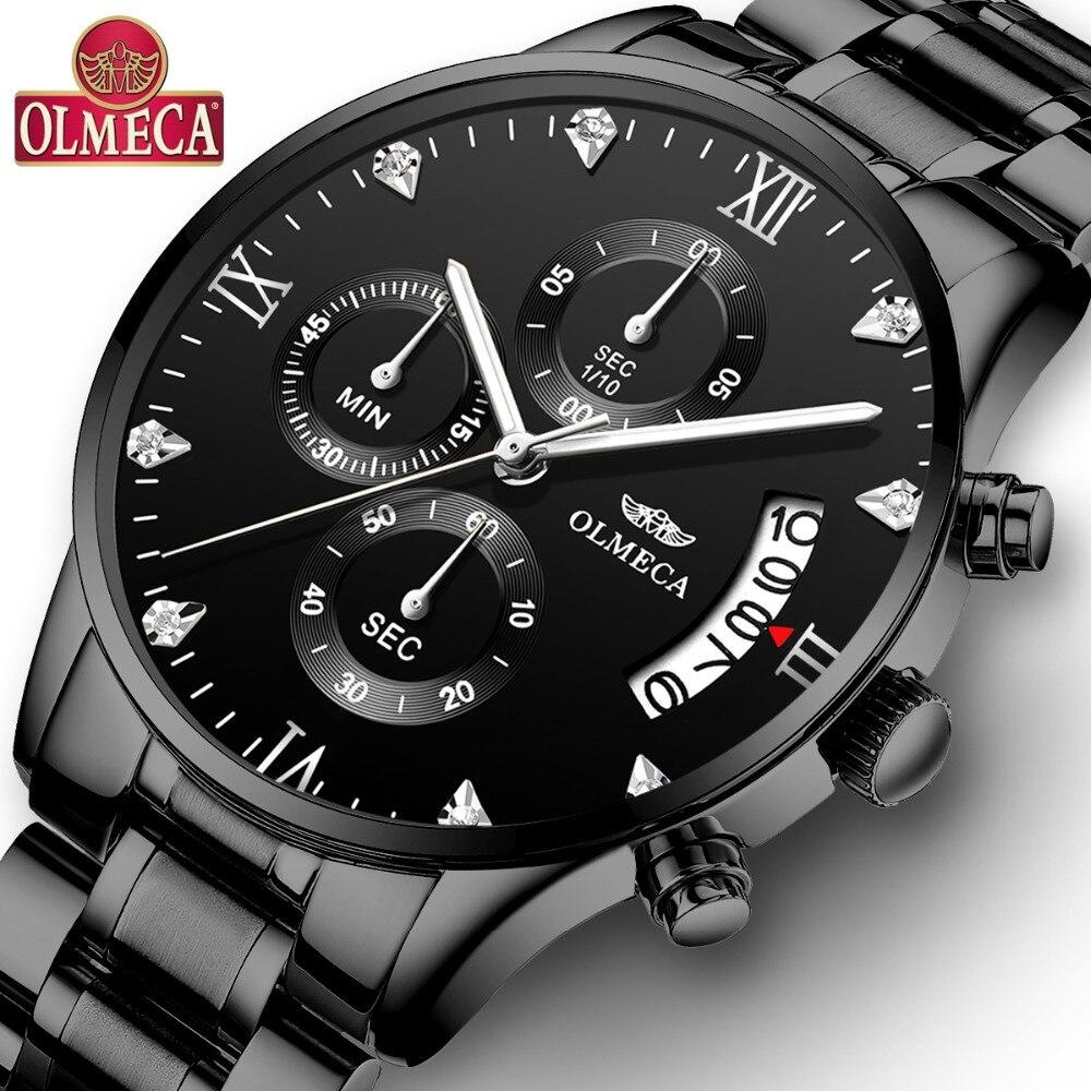 OLMECA Relogio Masculino Männer Uhren Luxus Berühmte Top Marke Herrenmode Casual Kleid Uhr Military Quarz Armbanduhren Saat