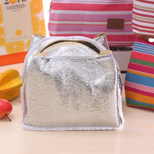 Lunch Bag Thermal Stripe Tote Bags Cooler Picnic Food Lunch box bag for Kids Women Girls Ladies Man