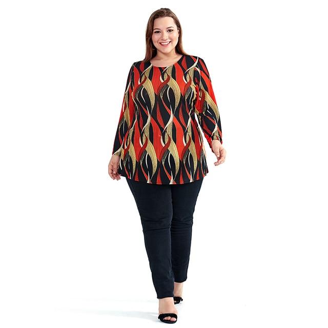 ZAATORA™  Plus Size Print Elegant Bohemian Orange 5