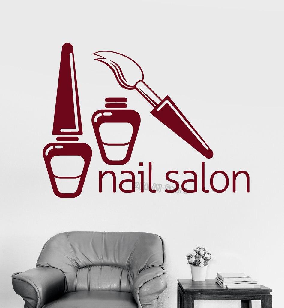 Маникюрный салон ногтей Salon Наклейки на стену женщина девушка стены наклейки Книги по искусству истик Дизайн DIY Книги по искусству росписи с... ...