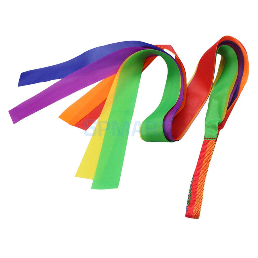 Rhythm Ribbon Dance Rainbow Ribbon Streamer Kids Children Dance Dancer Outdoor Games Cheerleading Toys