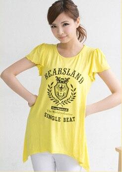 Emotion Moms модная одежда для кормящих матерей с коротким рукавом, топы для кормящих, топ для беременных женщин, летняя футболка для беременных - Цвет: Цвет: желтый