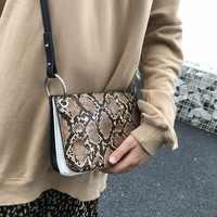 3 フラップバッグ韓国ヘビ円形のレトロな小バッグファッションショルダーバッグ女性の財布やハンドバッグ女の子 Crossboday スリングバッグ