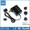 12 V 1.5A 18 W AC carregador adaptador de energia portátil para Lenovo Le pad S1 K1 Y1011 Tablet PC portátil EUA/EU/AU/UK Plug