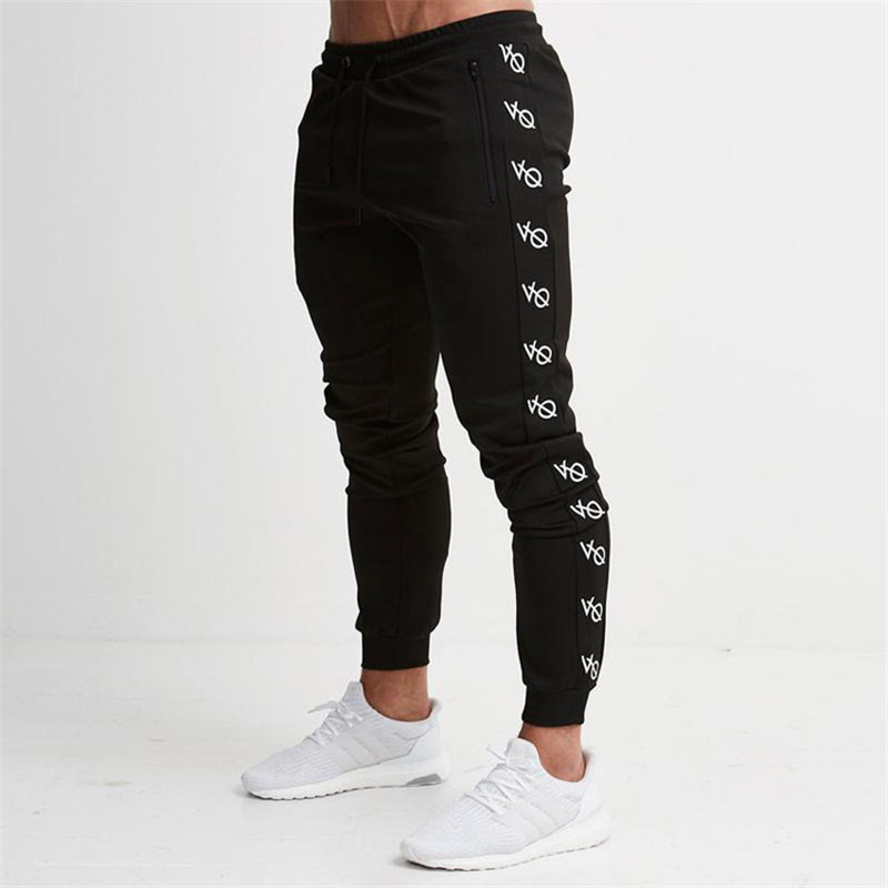 2018 New Men Joggers Brand Male Trousers Casual Pants Sweatpants Jogger Dark grey Casual Elastic cotton Fitness Workout pan ...