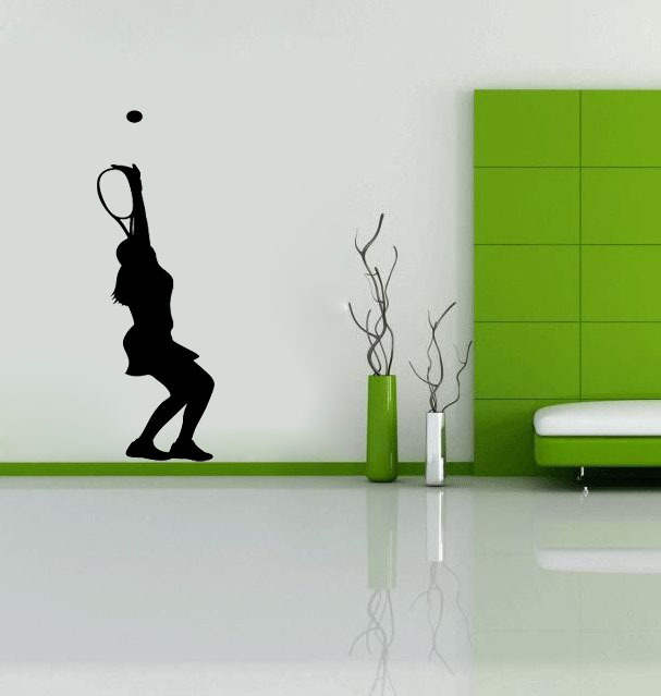 Online Shop Tennis Serve Womens wall decals vinyl stickers home decor  living room wall pictures bedroom wallpaper sticker on the wall  89e65a837b