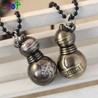 New Design Gaara Anime NARUTO Jewelry Rope Chain Pendant Necklace Naruto Figure Gaara bottle gourd Jewelry