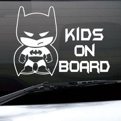 Kids on Board Little Batman Voiture Autocollant Vinyle Autocollant Pour Pare-chocs Fenêtre ou