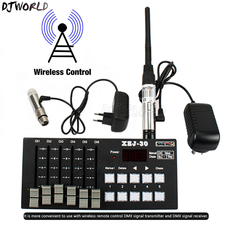 Wireless Charging DMX Console30 Stage Control Equipment For DJ Disco Parties Clubs Bar Controller DMX512 Stage Effect Lighting
