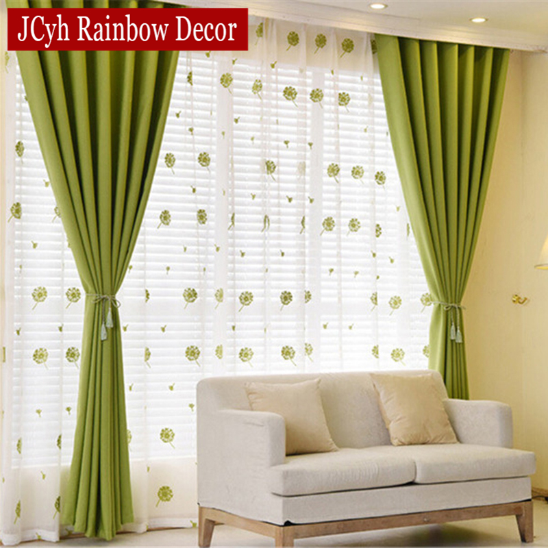 green curtains for living room. Solid Blackout Curtains For Bedroom Green Kids Living Room  Kitchen Window Fabric Blind Drapes Cortinas in from Home Garden