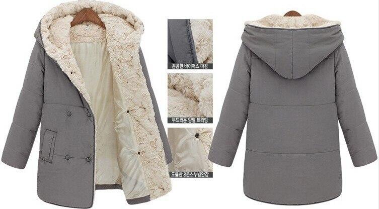 Online Shop 2015 New Winter Coat Women Casual cotton Fleece Lined ...