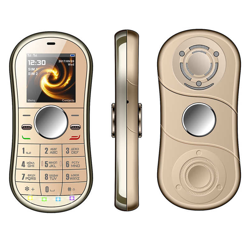 Moda Fidget Spinner teléfono móvil SERVO S08 1,3 pulgadas tarjeta Dual SIM Spinner de mano Bluetooth teléfono móvil puede agregar teclado ruso