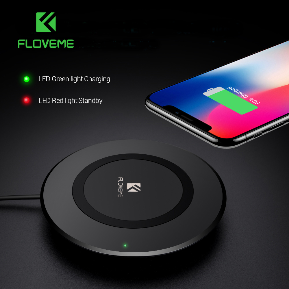 FLOVEME 5W Qi Wireless Charger For Samsung Galaxy Note 8 S8 Plus Charging Pad For Phone iPhone Cool Usb Charger For Mobile Phone