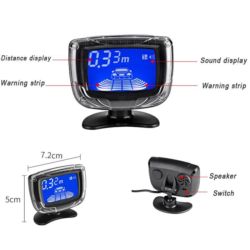 YASOKRO Auto Parkplatz Sensor Dual CPU LCD Display mit schalter 12V Auto Reverse Backup-Sensor Parkplatz Radar-Monitor Detektor system