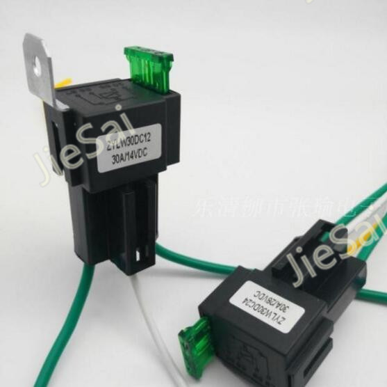 1 set JD2912 12v Automotive relay auto fuse relay with 30A fuse/socket with wire купить