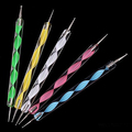 2016 New 5 PCS 2 way Marbleizing Nail Art Dotting Painting Pen Manicure Tools Nail Art Dotting pen Tool Dot Set 5GJA