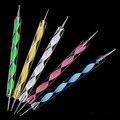 2016 Nuevo 5 UNIDS 2 vías Marbleizing Nail Art Puntea La Pintura pluma Herramientas de Manicura de Uñas de Arte Que Puntea la Herramienta pluma Dot Conjunto 5GJA