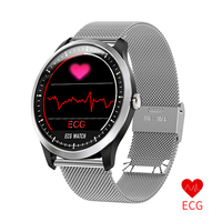 N58 ECG PPG Blood Pressure Smart Watch With Electrocardiograph ecg display Holter ECG Heart Rate Monitor Waterproof Smartwatch