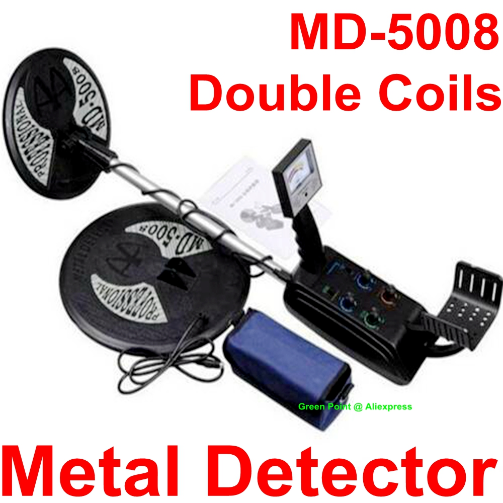 New Arrival MD 5008 Underground Metal Detector Gold Digger Treasure Hunter MD5008 Gold Dector With Two