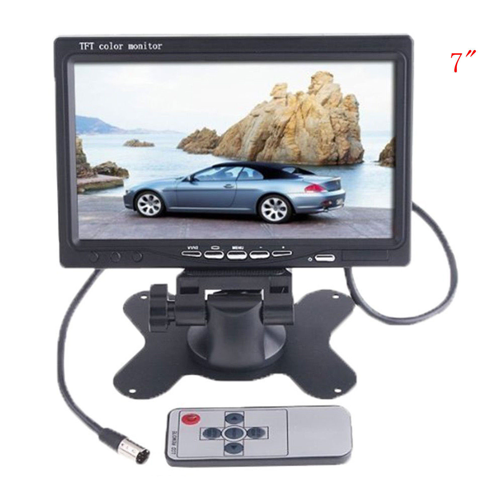 7 TFT LCD Color HD Screen Display Monitor For Car SUV Reversing Parking Camera FPV
