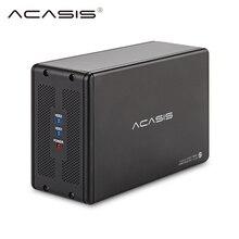 Harici USB 3.0 sata 3.5-inç Çift Sabit Disk SATA Seri Mobil sabit Disk Dizisi BASKıNı Sabit Disk Kutusu Dizüstü Masaüstü HDD Docking