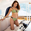 2018 New Arrival Style Women Bikinis Set Printed Crop Top Swimsuit Push Up Swimwear Female Cut