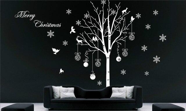 Árbol Descuento Feliz Extraíble Navidad De Pared Snowflake Adhesivos tCxhQsBrd