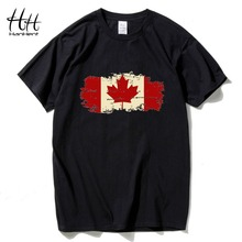 HanHent Canada Flag 2016 New Fashion Tee shirts Cotton Short Sleeve Tshirts Canadian Maple Leaf Summer Style Fitness Tshirts Men