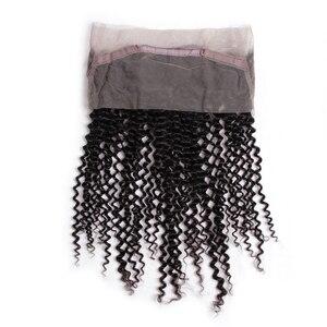 Image 5 - על ידי 360 חזיתי עם חבילות קינקי מתולתל חבילות עם פרונטאלית שיער טבעי 2 חבילות עם תחרה פרונטאלית סגירת רמי הארכת שיער