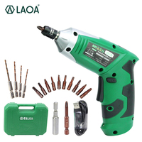 LAOA 3.6V 19 In 1 Portable Electric Screwdriver Electric Drill Chargeable Battery Cordless Drill DIY Power tools