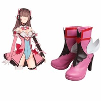 Game OW D.va Cosplay Costume Shoes Boots Game Role D.VA Pink Angel Cosplay Shoes Halloween Chirstmas Boots L0516