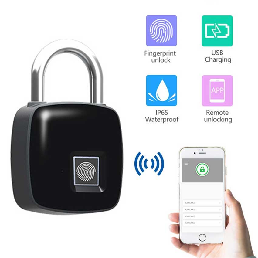 Bluetooth Fingerprint Lock smart lock porta doorlock electronic for hotel warehouse smart keyless fingerprint lock wireless Electric Lock     - title=