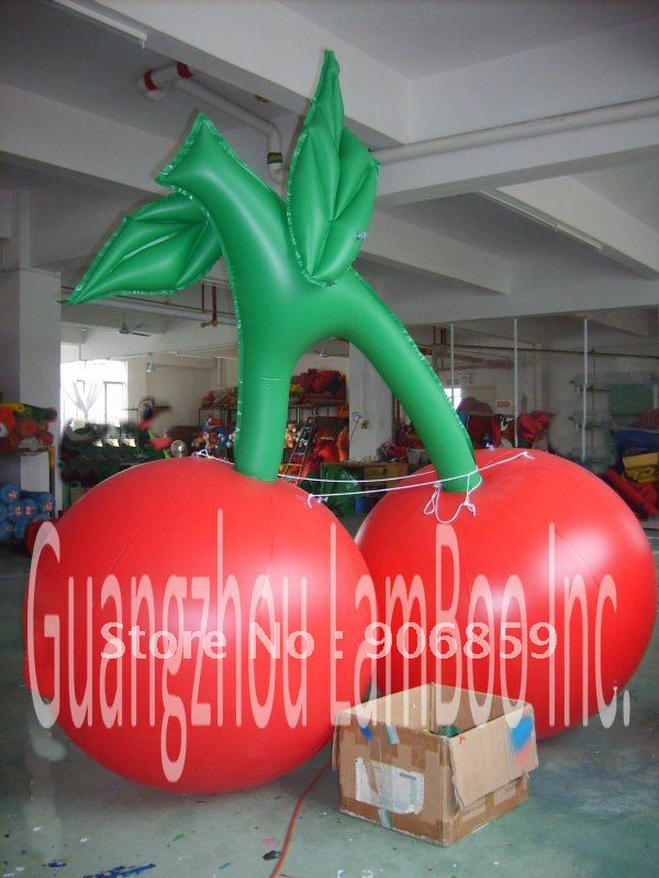 Nice 1Meter Inflatable Cherry Balloon for your advertisement/Mango /pineapple balloon, different fruits balloon can be made надувные игрушки balloon people ht 512b