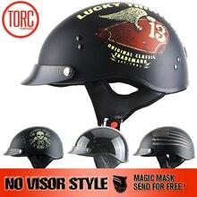 TORC BRAND new Harley helmet no visor Classic Vintage jet Half Face Motorcycle Helmet Casco Casque Moto Retro Helmets DOT T55.02