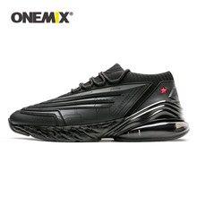 ONEMIX-zapatillas para correr para hombre, calzado de deporte de cuero 95 con amortiguación de aire, suela suave, informales, con plataforma para exteriores, talla máxima 47