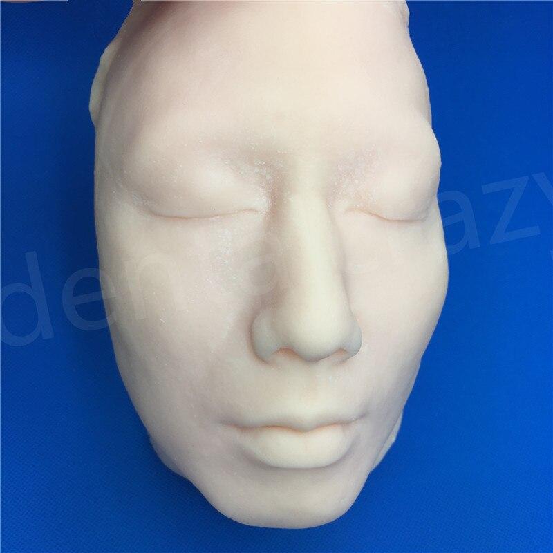 Modèle d'enseignement de chirurgie plastique de Suture de peau d'injection de tête de Silicone avec le squelette pour la PlasticSurgey de Suture de peau