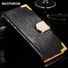 NORTHFIRE Voor iPhone 8 5 6 7 Plus 5 s SE 4 S Case Glitter Diamond Luxe Rhinestone Leather Wallet flip Case Voor iPhone 7 8 X Case(China)