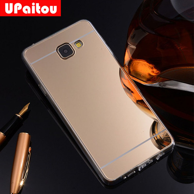 best website 65d93 83ff6 US $1.79 10% OFF|UPaitou Mirror TPU Case for Samsung Galaxy A7 2016 6 A710F  A710FD A710 Duos Back Cover Case Electroplating Soft Silicone Case-in ...